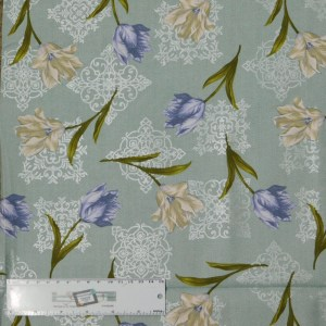 Quilting Patchwork Sewing Fabric TOTALLY TULIPS PURPLE SCATTERED 50x55cm FQ New