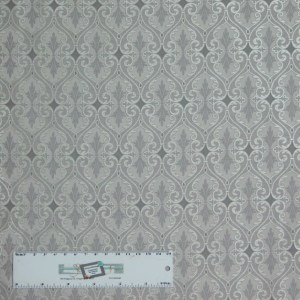 Quilting Patchwork Sewing Fabric TOTALLY TULIPS GREY SHIMMER 50x55cm FQ New