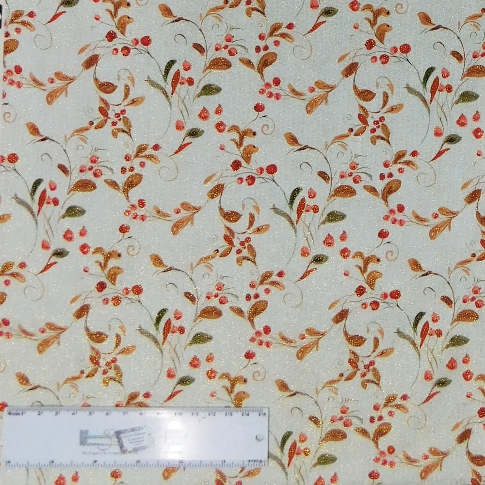 Patchwork Quilting Sewing Fabric Cream Daisy Doodle Dots Material 50x55cm FQ New