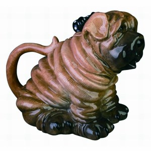 Collectable Novelty Kitchen Teapot BLUE SKY SHAR PEI DOG China Tea Pot New