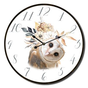 Clocks French Country Vintage Wall Hanging 34cm BARN OWL Clock New