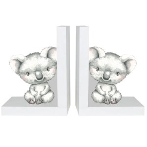 French Country Inspired Wooden Bookends BABY JOEY Koala New