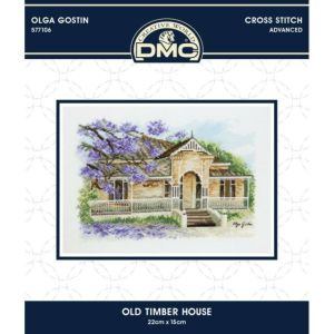 DMC Cross Stitch Kit OLD TIMBER HOUSE Olga Gostin 577106 New