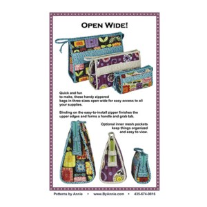 Quilting Sewing Patchwork By Annie OPEN WIDE Pattern New