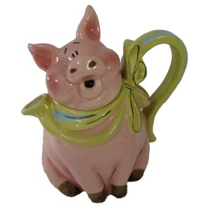 Collectable Novelty Kitchen Teapot BLUE SKY PIG China Tea Pot New