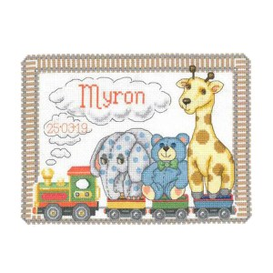 My Cross Stitch Celebration ANIMAL MAGIC BIRTH SAMPLER Kit New X Stitch 057132