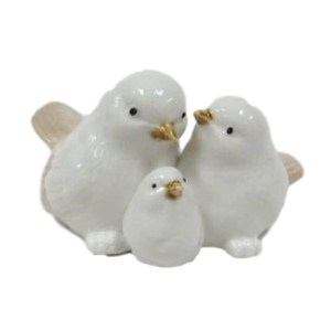 French Country Ornamental Set of 3 Birds CREAM Collectable Gift Idea New