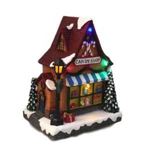 Christmas Santa Ornaments Xmas LED Light Up CANDY SHOP New
