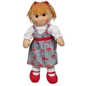 Lovely Soft Rag Doll EDIE in a Flamingo Dress 35cm New