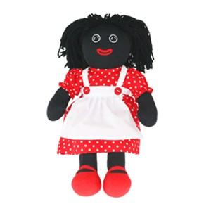 Lovely Soft Rag Doll GERALDINE Red Polka Dot Dress 35cm New