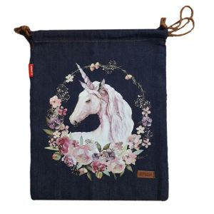 Denim and Co Tote or Library Bag with HTV Boho UNICORN on Front