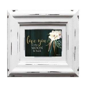 French Country Photo BOHO LUXE Love you to Moon White 6x4inch