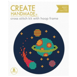 Create Handmade Cross Stitch Kit Beginner GALAXY 11x11cm New