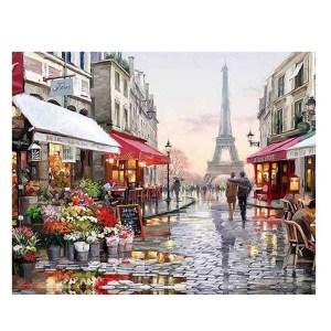 5D Diamond Painting Full Image Square Drills PARIS STREET 45x30cm