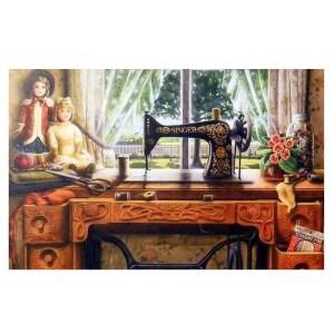 5D Diamond Painting Full Image Square Drills SINGER MACHINE 30x45cm