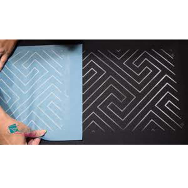 Quilting Full Line Stencil MODERN MAZE Reusable A3 use with Pounce