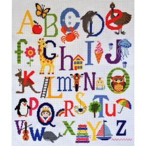 MAKE IT Cross Stitch Kit For Beginner ALPHABET SAMPLER 585206 New