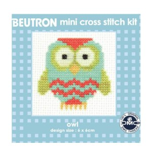BEUTRON Cross Stitch Kit For Beginner OWL 6x6cm BM6047 New