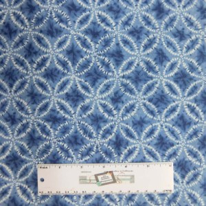 Quilting Patchwork Sewing Fabric Japanese SHIBORI LIGHT BLUE 50x55cm FQ New Material
