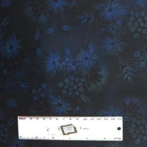 Quilting Patchwork Sewing Fabric JASON YENTER SEASONS DARK BLUE 50x55cm FQ New