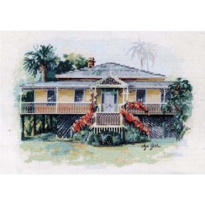 DMC Cross Stitch Kit HISTORICAL QUEENSLANDER House New Olga Gostin OG007
