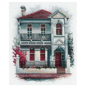 DMC Cross Stitch Kit VICTORIAN TERRACE House New Olga Gostin OG010