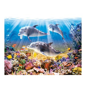 5D Diamond Painting Full Image Square Drills DOLPHINS 40x50cm