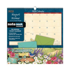 2020 Wells Street by Lang NOTE NOOK Calendar HEART AND HOME New