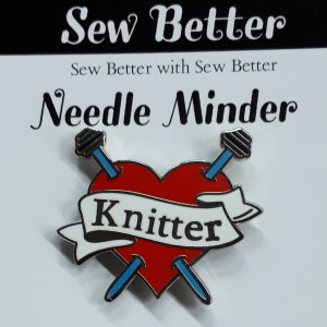 Sew Better Cross Stitch Embroidery Needle Minder Keeper KNITTER