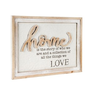 French Country Farmhouse Wall Art HOME STORY OF WHO WE ARE Wooden Sign