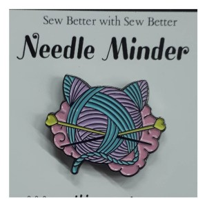 Sew Better Cross Stitch Needle Minder Keeper KNITTING KITTY EARS