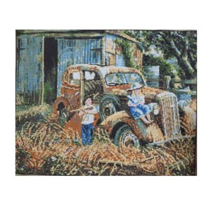 DMC Printed Tapestry Needlepoint Bonnie and Clyde 49x40cm