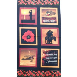 Patchwork Quilting Sewing Fabric ANZAC THE ODE Panel 60x110cm New