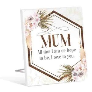 French Country Wooden Sign Bismark MUM I OWE YOU Plaque