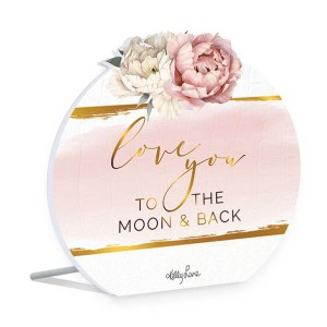 French Country Wooden Sign Mothers Day LOVE YOU MOON Plaque