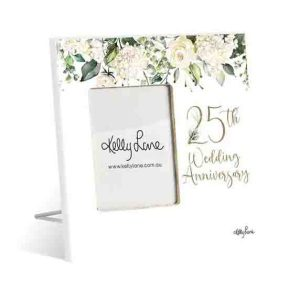 French Country Standing Occasions 25th ANNIVERSARY Photo Frame