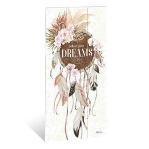 French Country Wooden Sign Bismark FOLLOW DREAMS Plaque