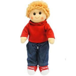 Hopscotch Lovely Soft Rag Doll ELLIOT Boy Dressed Doll Large 35cm