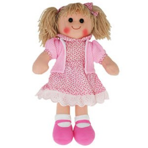 Hopscotch Lovely Soft Rag Doll INDIA Pink Dress Doll Large 35cm
