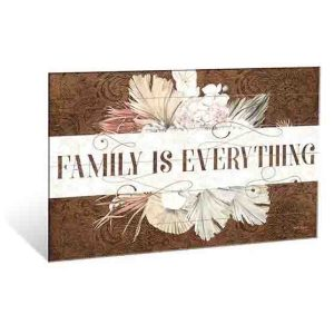 French Country Wooden Sign Bismark FAMILY IS EVERYTHING Plaque