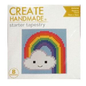 Create Handmade Tapestry Kit Beginner RAINBOW CLOUD 10x10cm