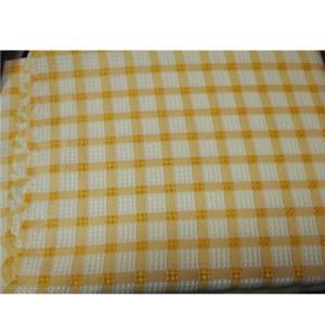 Country Table Cloth TARA YELLOW CHECK Tablecloth RECTANGLE 135x260cm
