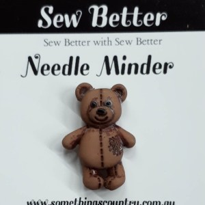 Sew Better Cross Stitch Needle Minder Keeper TEDDY BEAR 1