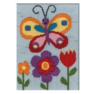 BEUTRON Long Stitch Kit Kids Beginner BUTTERFLY 13x18cm 579879