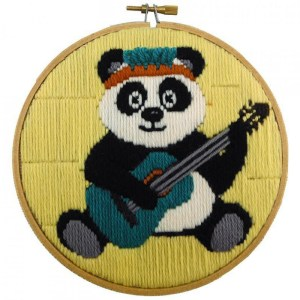 BEUTRON Long Stitch Kit Kids Beginner PANDA INCL HOOP 6INCH 585201