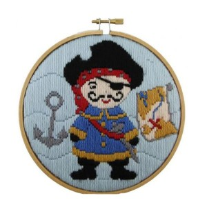 Make It Long Stitch Kit Kids Beginner PIRATE with Hoop 585202