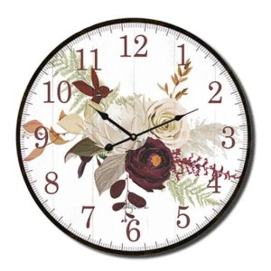 Clock Country Vintage Inspired Wall NATIVES PROTEA 22cm
