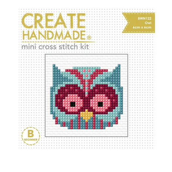 BEUTRON Cross Stitch Kit For Beginner PANDA 7x7cm 578104 New