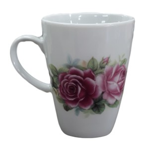 French Country Chic Kitchen Tea Coffee Mugs ROSE Set of 2
