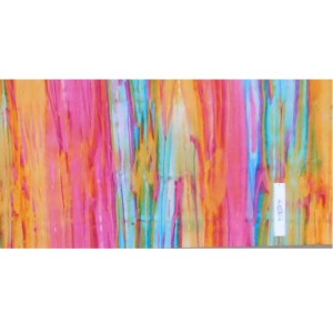 Quilting Patchwork Fabric BATIK SUNSET STRIPS Wide Backing 270x50cm New